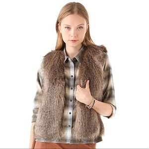 Club Monaco Matilda Faux Fur Vest - Medium